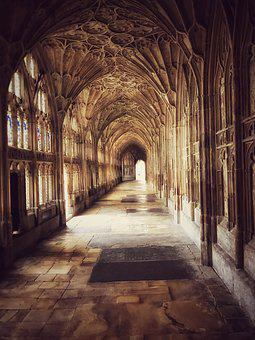 Cathedral, Cloisters, Harry Potter, Church, Religion