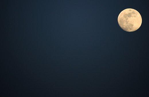 Moon, Night, Full Moon, Night Photograph, Night Sky