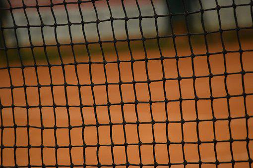 Tennis, Network, Sport, Tape, Red Earth