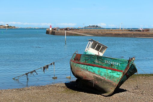 Boot, Ship, Port, Coast, Fishing Boat, On Land, Water