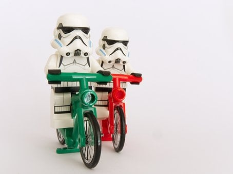Stormtrooper, Lego, Bicycle, Cyclist, Cycling, Race