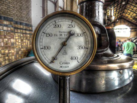 Thermometer, Gauge, Steam Boiler