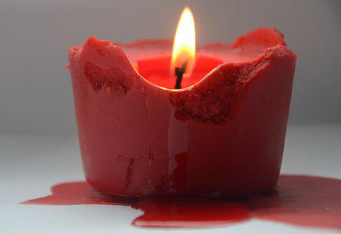 Candle, Fire, Red, Wick, Burns, Gothic, Vampires