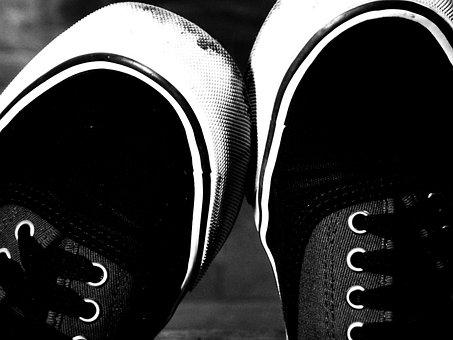 Sneakers, Foot, Black, Shoes, Fashion, Woman, Girl
