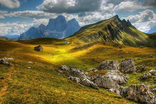 Dolomites, Mountains, Italy, View, Alpine, Trentino