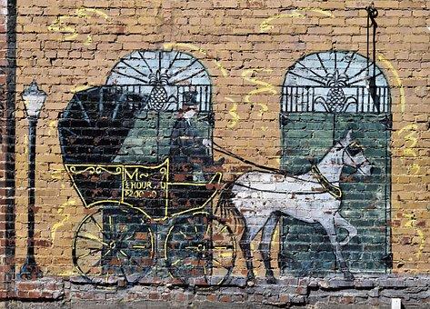 Wall Mural, Antique, Wall, Brick, Painting, Landmark
