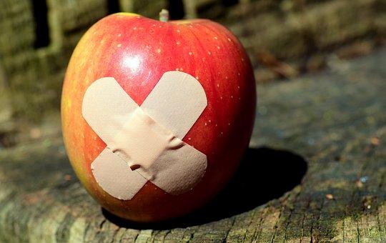 Apple, Patch, Food, Get Well Soon, Association, Healing