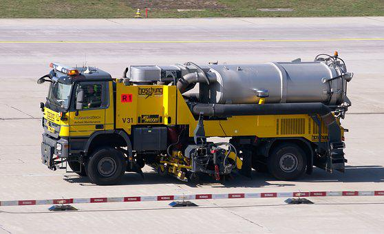 Cleaning Vehicle, Airport, Sweeper, Cleaning
