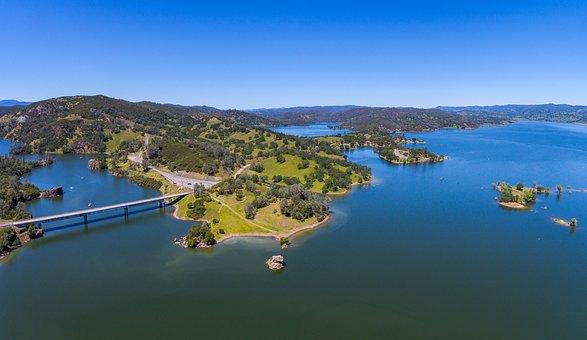 Aerial, Napa, California, Landscape, Flight, Scenic