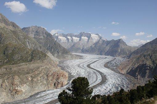 Nature, Glacier, Switzerland, Ice, Mountains, Alpine
