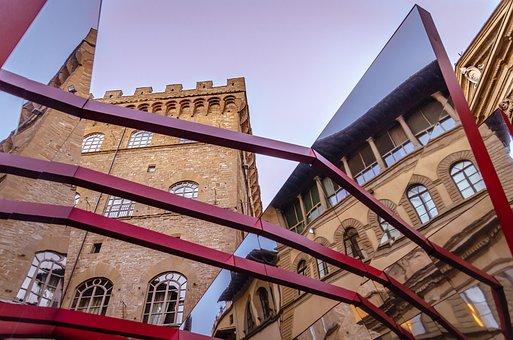 Italy, Tuscany, Florence, Reflections, Monuments