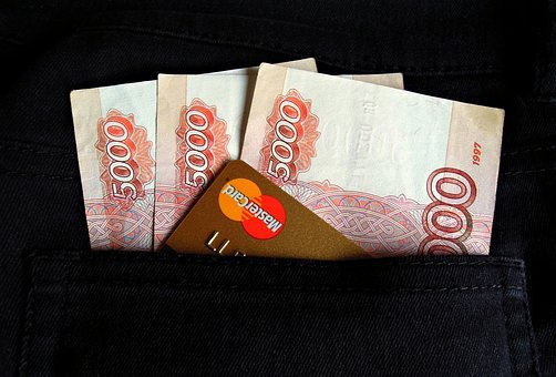 Money, Ruble, Mastercard, Map, Plastic, Currency, Bills