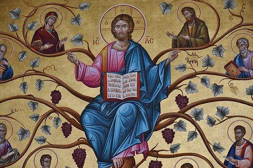 Greek Orthodox, Art, Church, Greek, Mural, Old