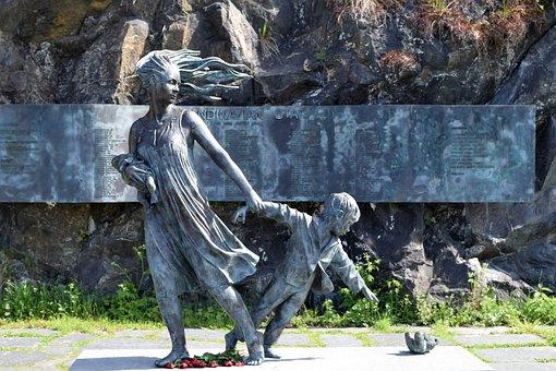 Statue, Sculpture, Oslo, Memorial, Scandinavian Star