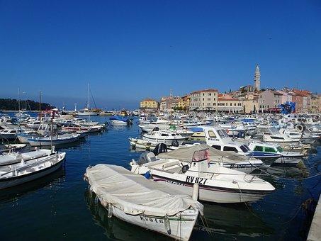 Croatia, Sea, Adriatic Sea, Boats, Port, Blue, Water