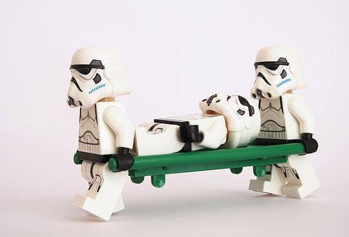 Stormtrooper, Lego, Stretcher, Litter, Pram, Healthcare