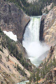 Yellowstone, Falls, National, Park, River, Landscape