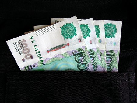 Money, Ruble, Currency, Bills, Russia, Russian, Paper