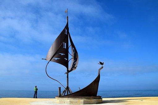 Ship, Boot, Water, Sea, Sailing Boat, Monument
