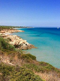 Sardinia, Peace, Sea, Blue, Nature, Turquoise, Cieleste