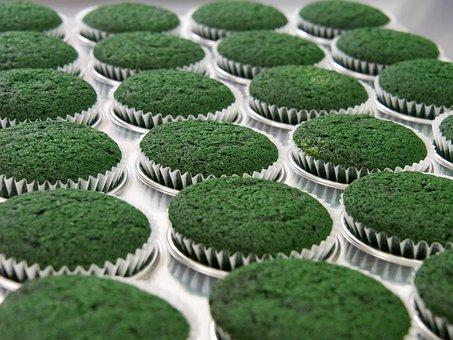 Cupcakes, Green, St Patrick, Celebration, Delicious