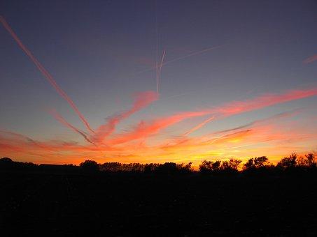 Sunset, Dawn, Sunrise, Sky, Nature, Landscape, Summer