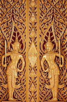 Thailand, Window, Wood, Carving, Travel, Asia, Building