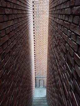 Red Brick Art Museum, Stairs, Wall