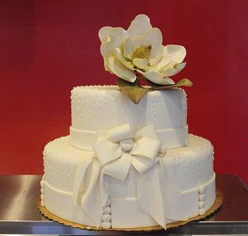 Cake, Wedding, Flower, Wedding Cake, Dessert, White
