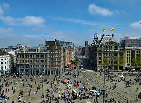 Amsterdam, A View In The Direction Of The Train Station