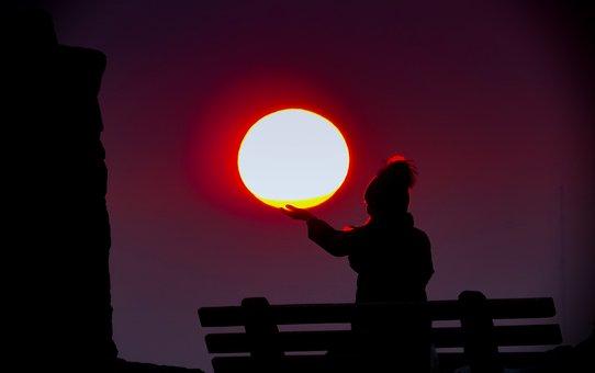 Sun, Evening, Sunset, Sky, Mood, Afterglow, Romantic