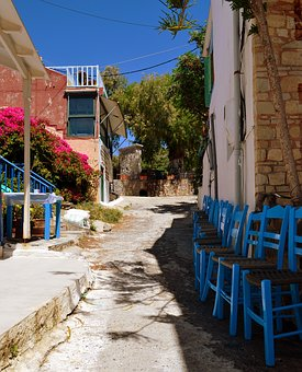Greece, Crete, Lemos, Alley, Idyllic, Romantic, Away