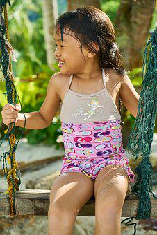 Child, Swing, Laugh, Beautiful, Smile, Model, Exposure