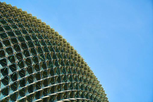 Abstract, Blue, Green, Architecture, Building