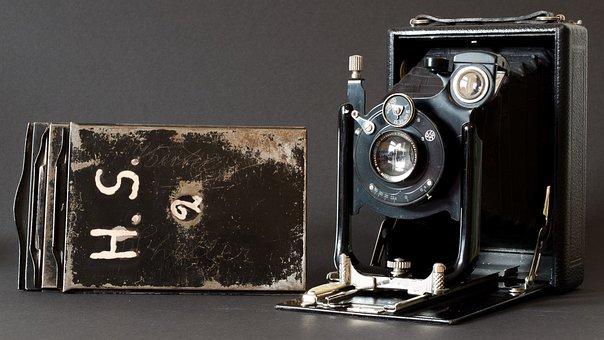 Camera, Old, Analog, Plate Camera, 1930, Photograph