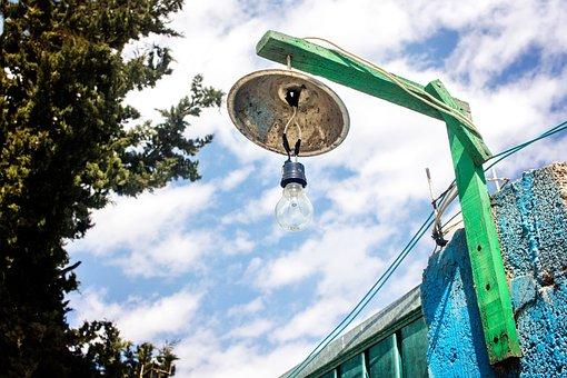 Lamp, Light, Lightbulb, Electric, City, Urban, Green