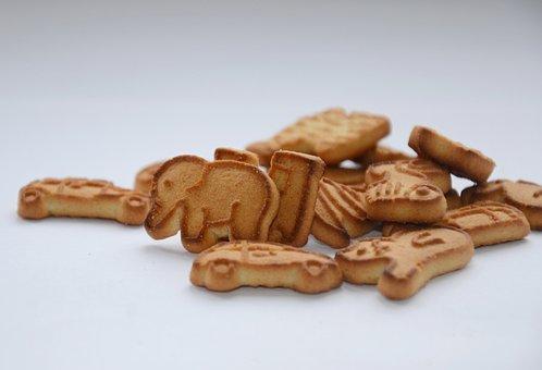 Cookies, Elephant, Breakfast, For Children, Children