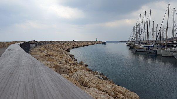 Marina, Port, Boat, Sea, Walk, Bay, Sky, Pier, Dock