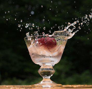 Glass, Water, Drop