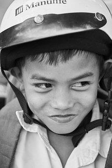 Child, Smile, Laugh, Documentary, Portrait, Hat