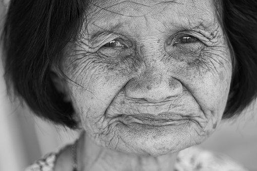 Old, Human, Portrait, Black And White, Women's, Face