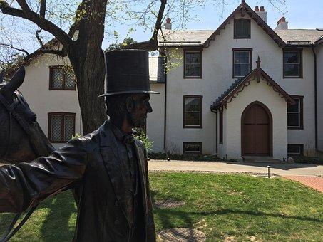Lincoln, House, Washington, Dc, Statue, Landmark