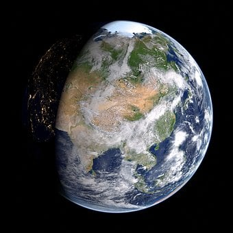 Earth, Asia, Russia, China, Map, Planet, Globe, Orbit