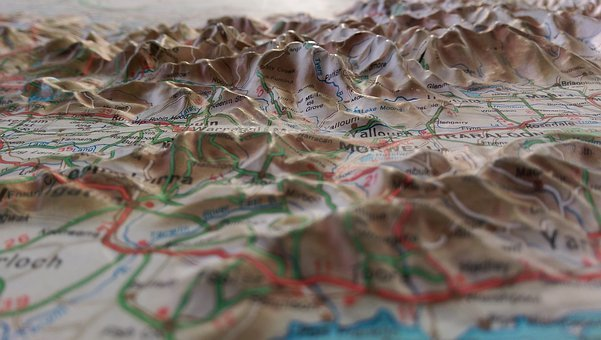 Maps, Topographical Maps, Geography, Cartography