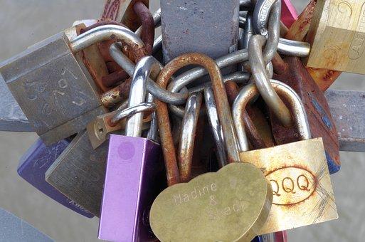 Locks, Engagement, Marriage, Love, Heart, Symbol