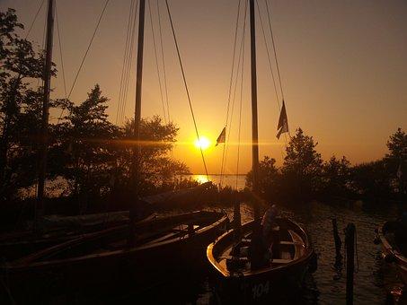 Sunset, Abendstimmung, Setting Sun, Twilight, Nature