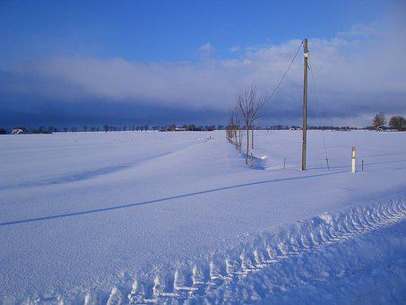 Winter, Away, Wintry, No Way, In Sight, Sky Blue