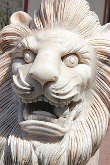 Lion, Statue, Sculpture, Stone, Asia, Religion, Temple
