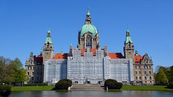 Site, Scaffold, New Town Hall Hannover