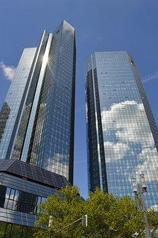 Deutsche Bank, Skyscraper, Sky, Skyline, Bank, Business